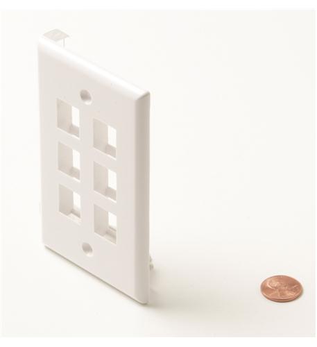 Steren 6-cavity white keystone plate