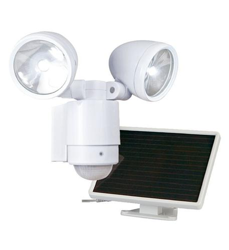 Dual-Head Solar Spotlight - WHITE