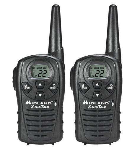 midland radio gmrs 2-way radio (up to 18 miles)