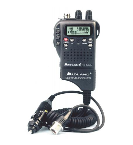 midland radio handheld mobile cb w/ adapter