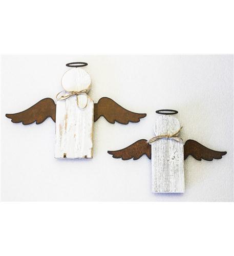 recherche furnishings natural reclaimed rustic angel twin pack