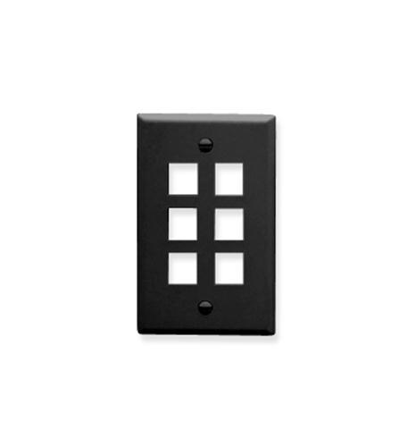 icc ic107f06bk 4 port face black