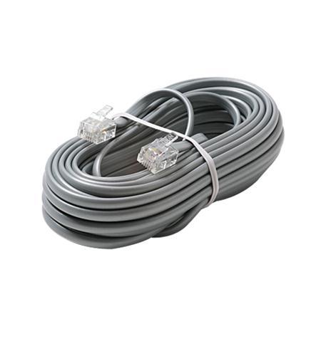 Steren 6c 15' silver modular line cord
