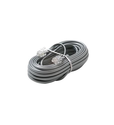 Steren 4c 15' silver modular line cord