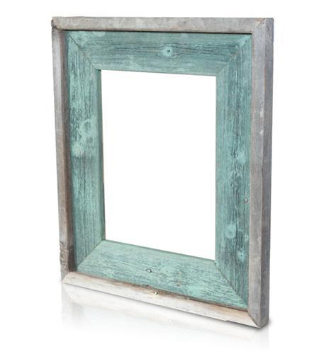 recherche furnishings 5x7 reclaimed wood frame jade