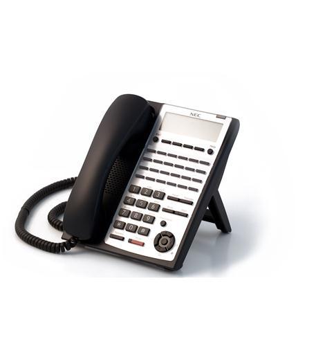 nec sl1100 be110278 24 button full-duplex ip tel bk