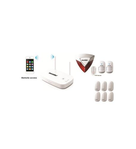 securityman app wireless home security alarm w/8
