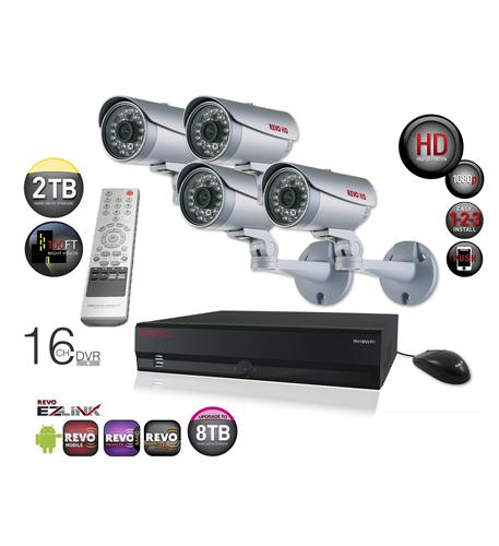 revo 16 ch. hd 2tb nvr surveillance system