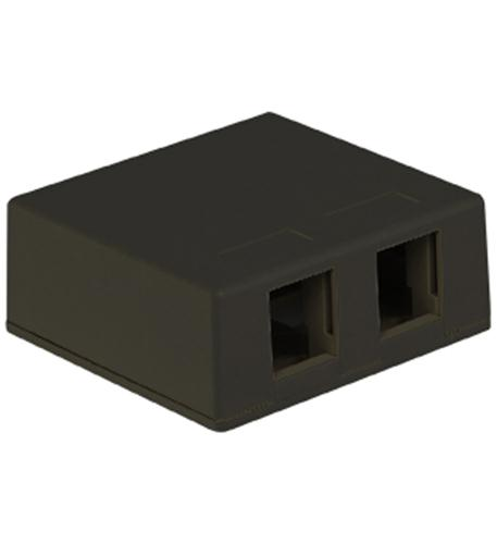 icc ic107sb2bk surface box 2pt black