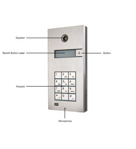 2N helios ip 1 button + keypad