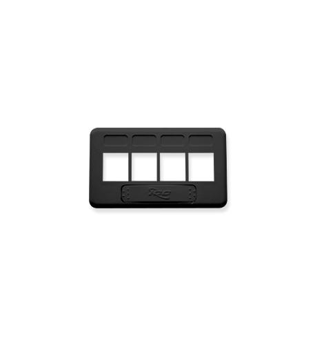 icc faceplate, furniture, tia, 4-port, black