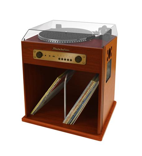 studebaker stereo turntable with bluetooth receiver