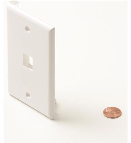 Steren 1-cavity white keystone plate