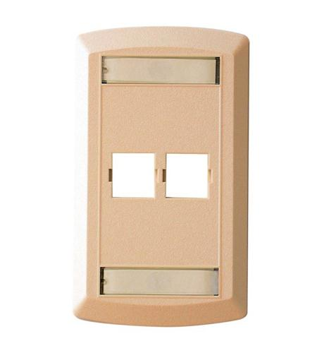 suttle 1 suttle 2 outlet faceplate - ivory