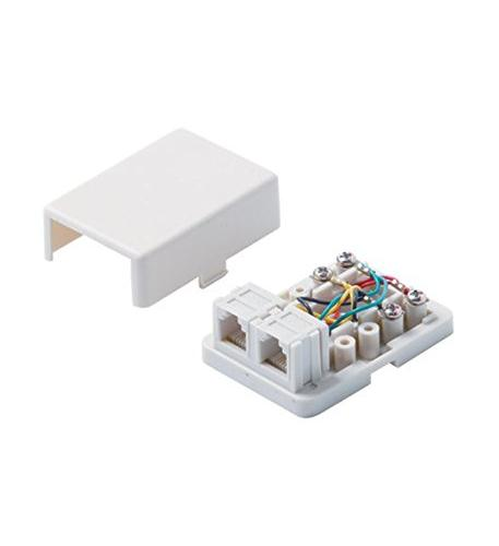 Steren 4c white dual surface jack