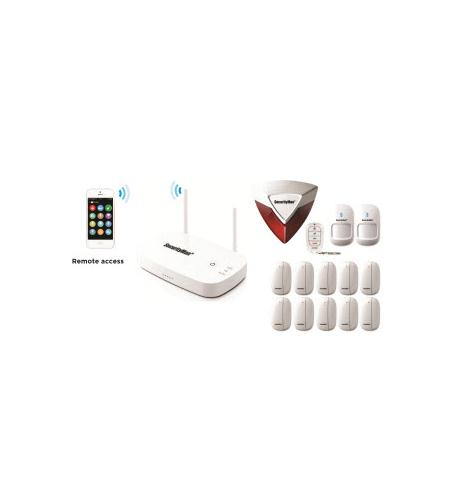 securityman app wireless home security alarm w/12
