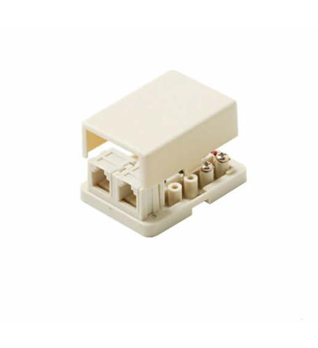 Steren 4c ivory dual surface jack