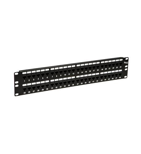 icc patch panel,cat 6, feed-thru 48-p,2rms