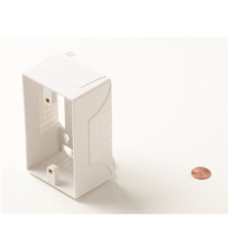 Steren junction box for wall plates white