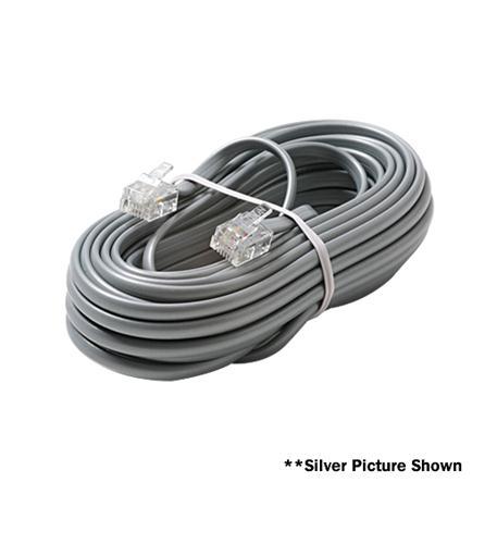 Steren 4c 15' white modular line cord