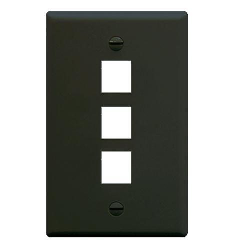 icc ic107f03bk - 3port face - black