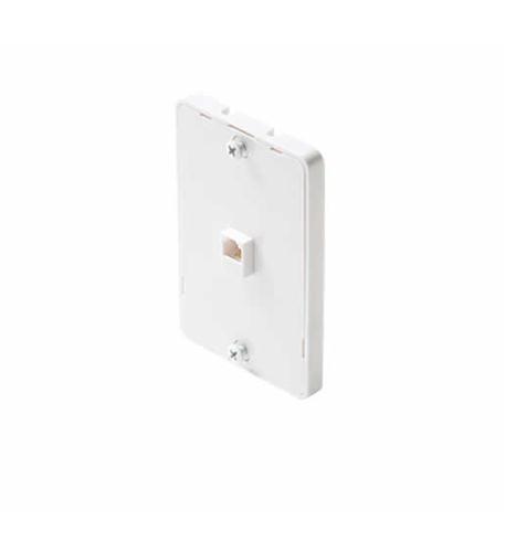 Steren 4c white wall-phone jack