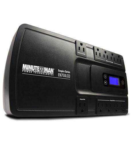 minuteman ups enspire 750va stand-by ups with lcd