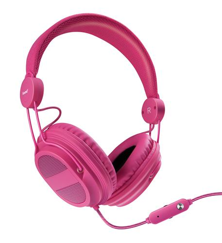 isound hm-310 kid friendly headphones pink
