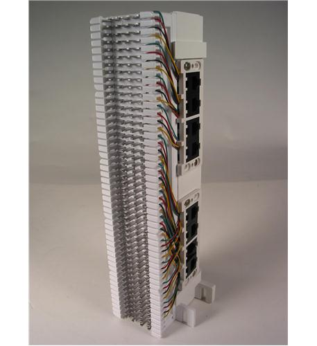 dynacom 3966bm12-2  66 block w/ 4 con jacks