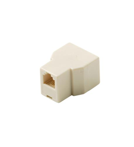 Steren 4c t-adapter jack-jack-jack ivory