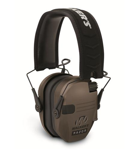 walkers game ear razor slim electronic muff - dark earth