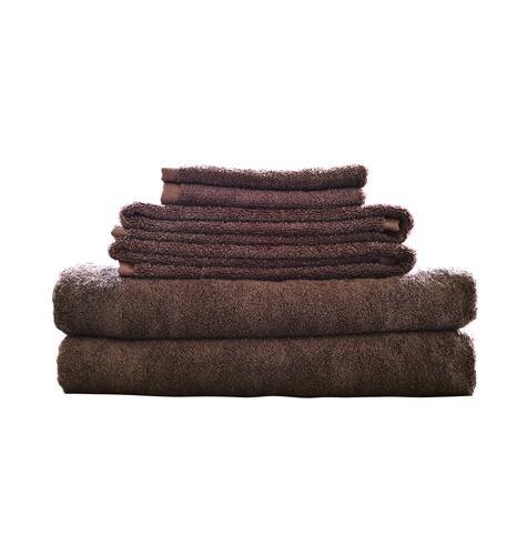 maxkin bamboo fiber 6pc towel set mocha