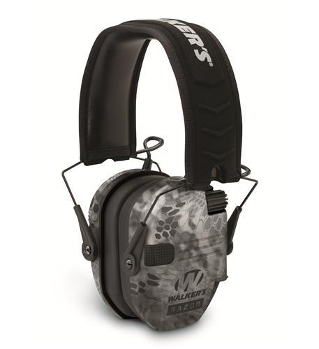 walkers game ear razor slim electronic muff - kryptek