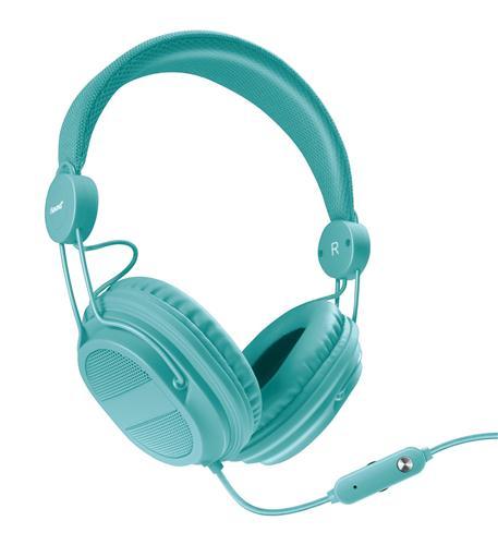 isound hm-310 kid friendly headphones turquoise