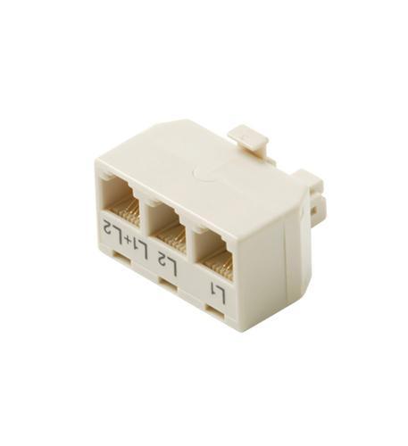 Steren 4c 2-line t-adapter 3-jacks in 1