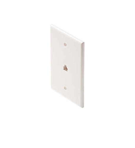 Steren 4c white smooth flush jack mid size