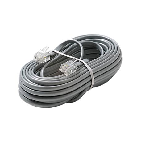 Steren 6c 7' silver modular line cord