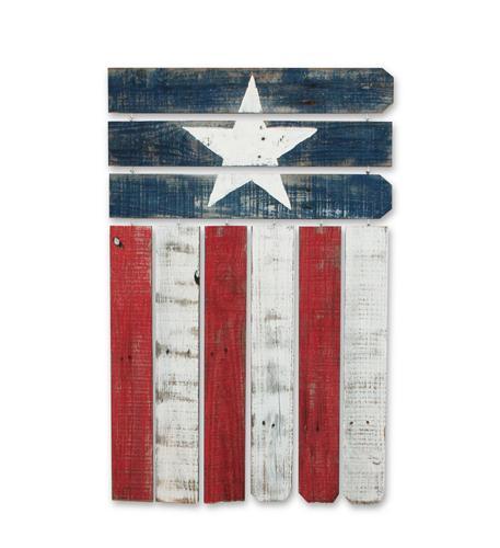 recherche furnishings reclaimed wood americana flag wall art