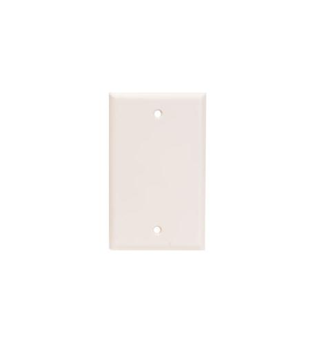 icc flush wall plate blank - almond