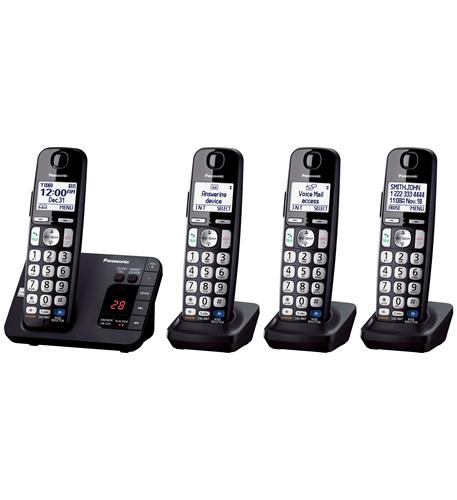 panasonic consumer dect 6.0, 4 handsets, big buttons, tad