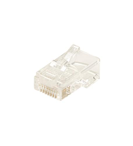 Steren 6x6 round/solid modular plug 100 pack