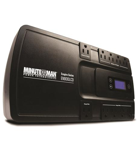 minuteman ups enspire 900va stand-by ups with lcd