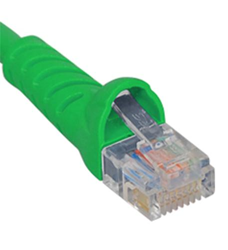 icc patch cord, cat 5e, molded boot, 10' gn