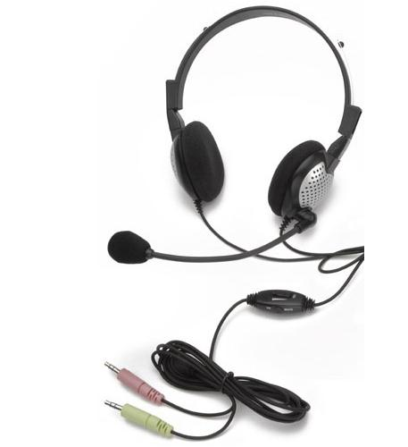 andrea communications noise canceling stereo headset with volu