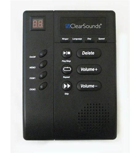 clear sounds digital amplified answering machine with