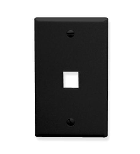 icc ic107f01bk 1 port fp black