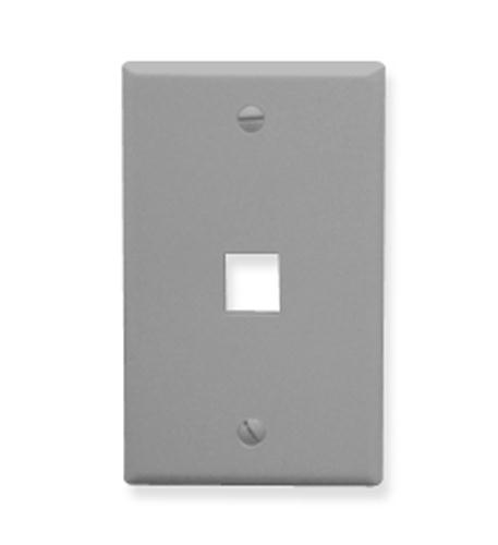 icc ic107f01gy - 1port face - gray