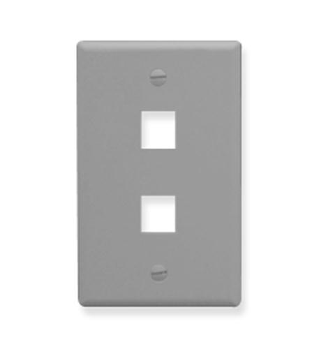 icc ic107f02gy - 2 port face - gray