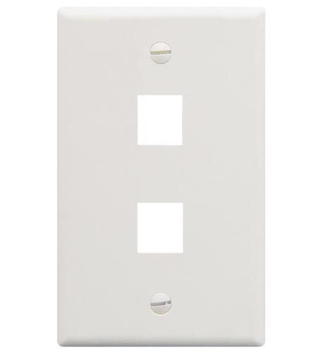 icc ic107f02wh - 2port face white
