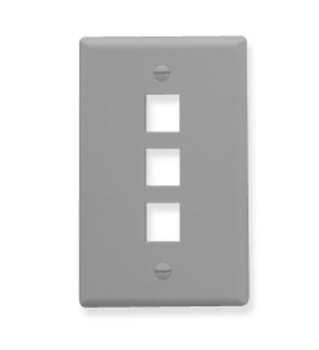 icc ic107f03gy - 3port face - gray
